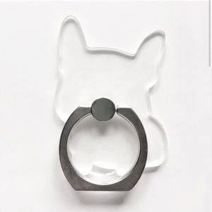 French Bulldog Ring Socket Mobile Holder - CLEAR
